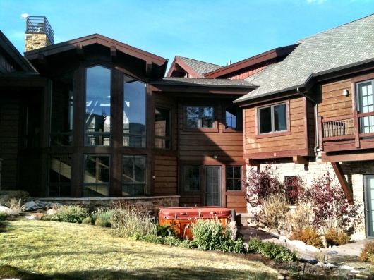 Breckenridge Colorado Exterior House Staining